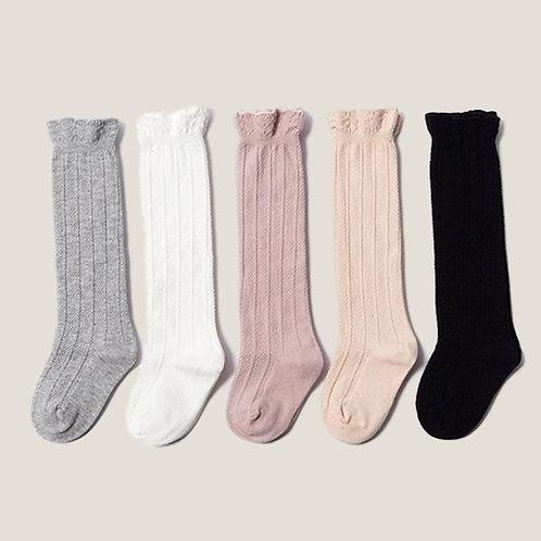 Knee High Ribbed Socks