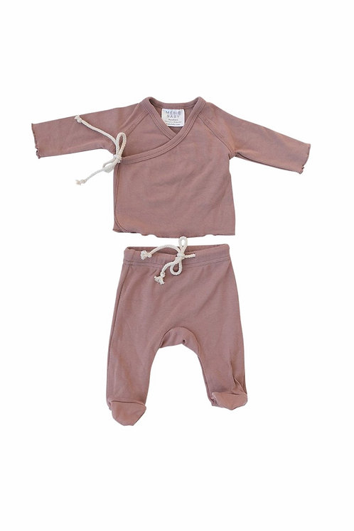 Mebie Baby Cotton Layette Set - Blush