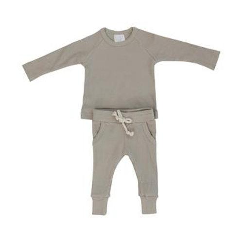 Mebie Baby Organic Ribbed Pocket Set - Oatmeal
