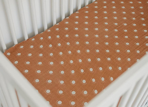 Mebie Baby Muslin Crib Sheet  - Sunshine