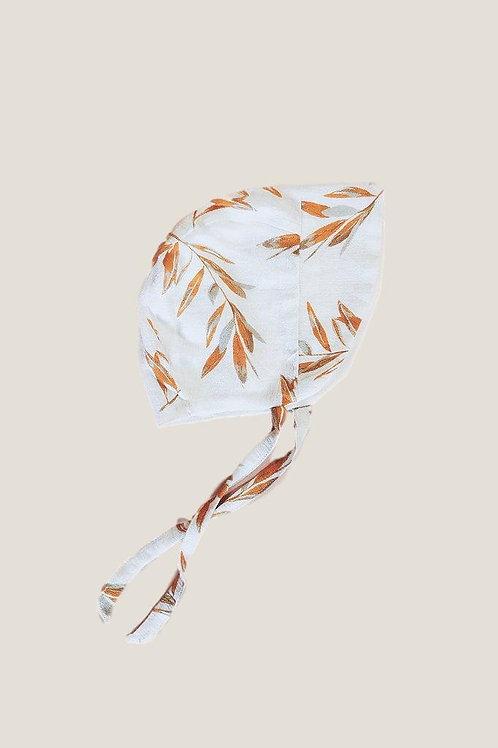 Piyama Baby Bonnet - Olive Leaf Ochre