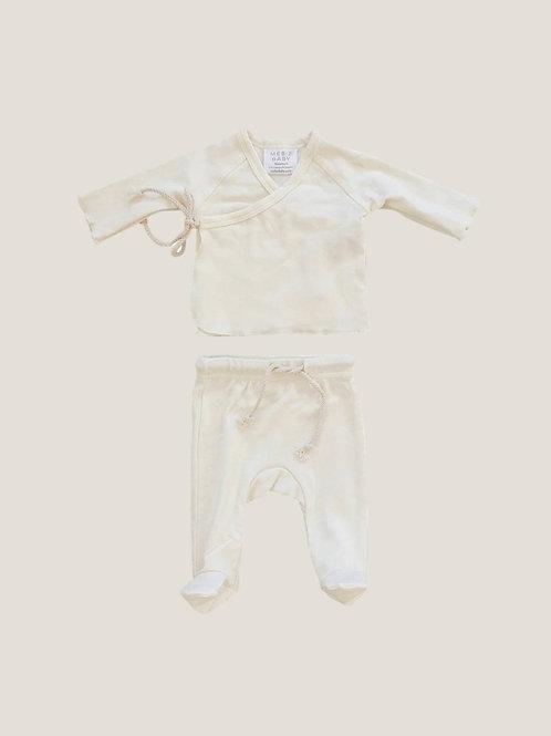 Mebie Baby Cotton Layette Set - Cream