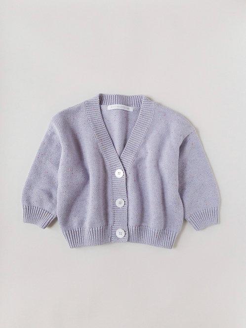 Kids Of April - Rainbow Speckled Cardigan - Lavender