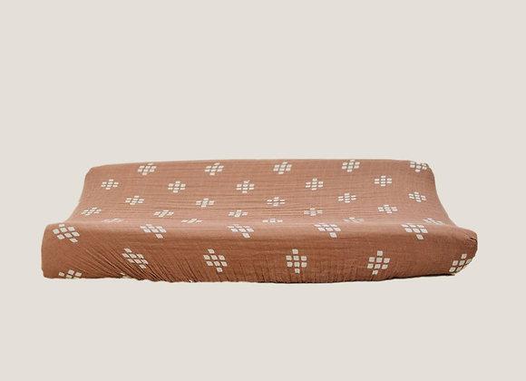Mebie Baby Muslin Change Pad Cover - Chesnut