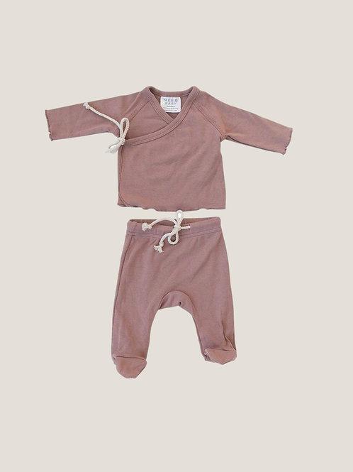 Mebie Baby Cotton Layette Set - Blush