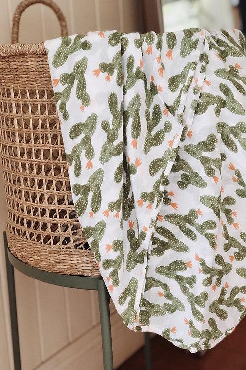 Piyama Swaddle Blanket - Cactus