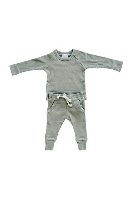 Mebie Baby Organic Ribbed Pocket Set - Green
