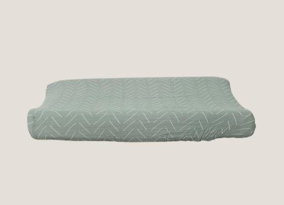 Mebie Baby Muslin Change Pad Cover - Desert Sage