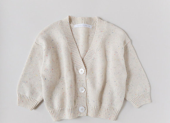 Kids Of April - Rainbow Speckled Cardigan - Natural