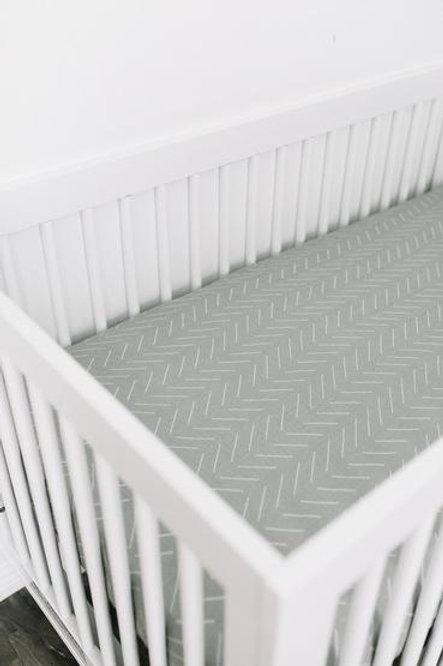 Mebie Baby Muslin Crib Sheet  - Desert Sage