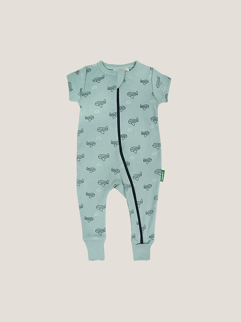 Parade Organics '2-Way' Zip Romper - Airplanes