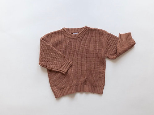Kindly the Label - Chunky Knit Sweater - Claypot