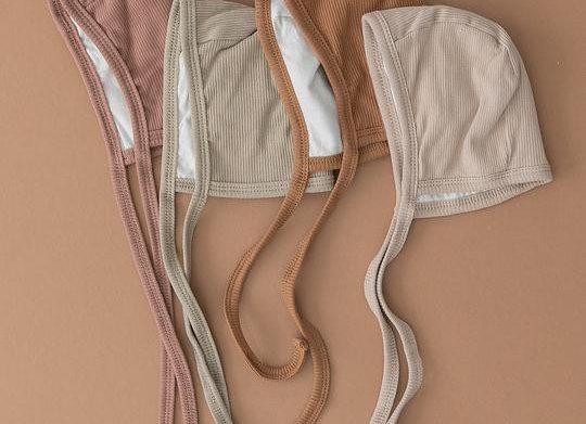 Mebie Baby Organic Cotton Ribbed Bonnet