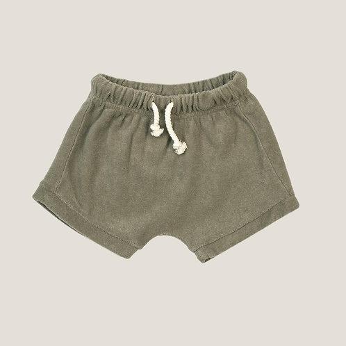 KidWild Organic Terry Shorts - Coriander