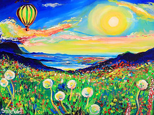 Colourful-Landscape-Painting-Sunset-and-