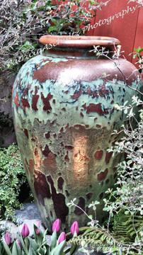Antiqued Urn