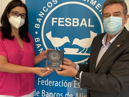 """FESBAL ha entregado el reconocimiento """"Estrellas COVID-19"""" a Kellogg por su colaboración en el 2020"""