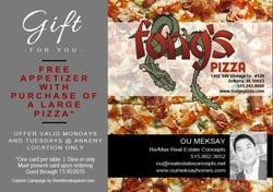 Fong's Pizza Oct 2015