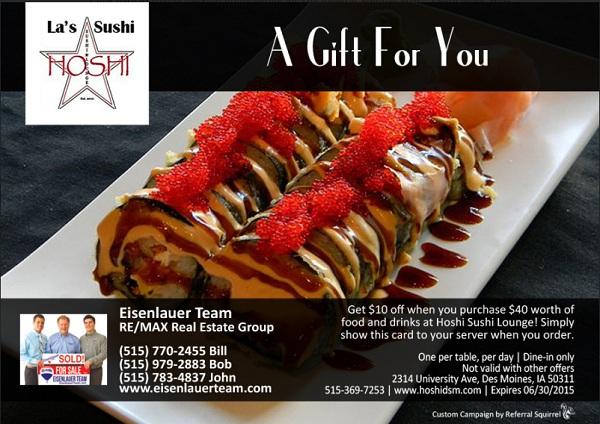 Hoshi Sushi May 2015
