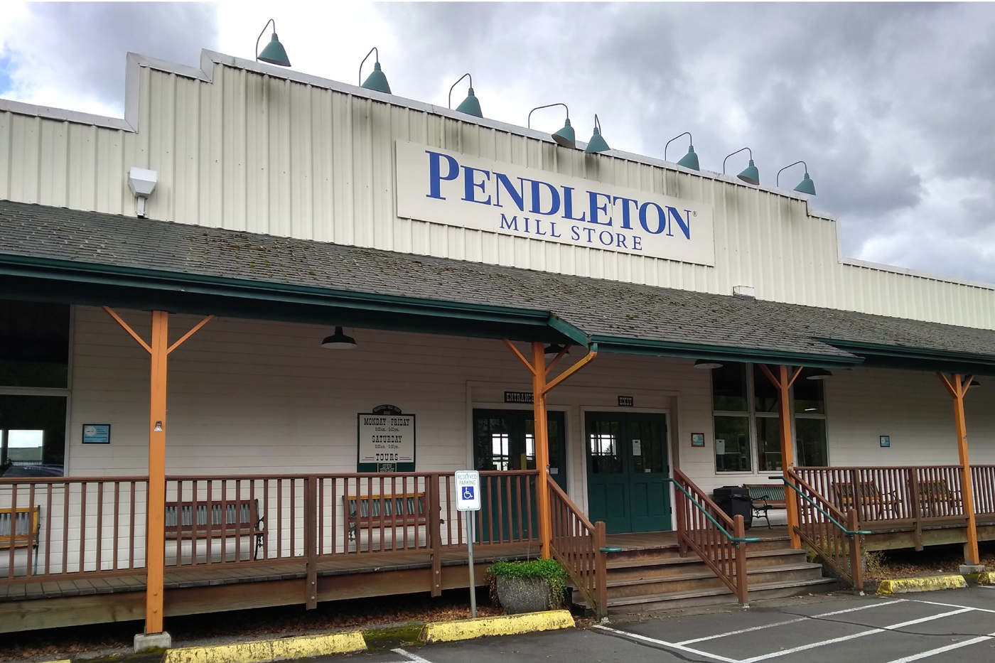 The Pendleton Mill factory and store in Washougal, Washington.