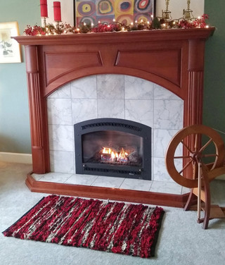 """""""This rug's colors harmonize beautifully with our large, cherry mantle. And on cold days, there's nothing better than to bury my toes in its warm, soft fabric."""" -Erin T."""