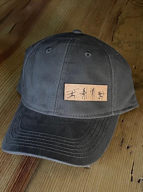 4 Bushman Leather Patch Logo Hat