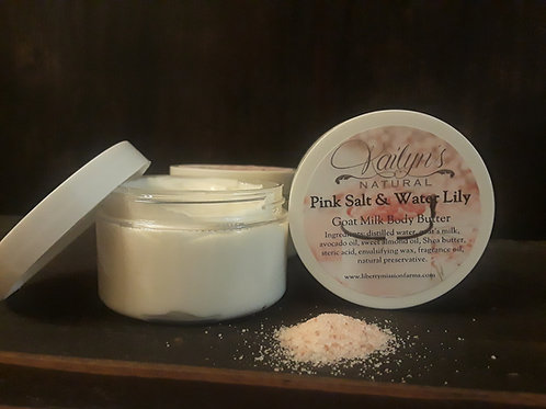 Pink Salt and Water Lily Goat Milk Body Butter
