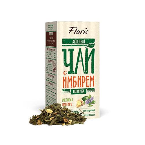 Зеленый чай с имбирем и мелиссой, 100 г.