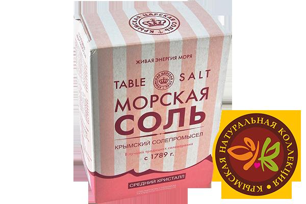 Натуральная морская розовая соль 800 г