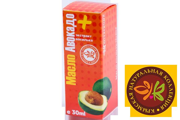 Масло Авокадо + экстракт василька 30 мл.