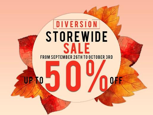 Diversion Storewide Sale