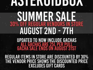 AsteroidBox. Summer Sale