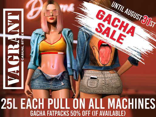 Vagrant Gacha Sale