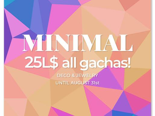 Minimal Gacha Sale