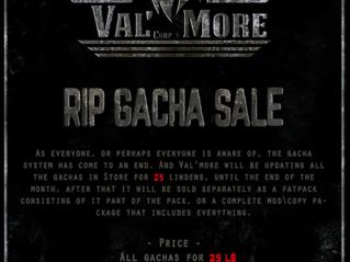Val' More Corps Gacha Sale