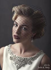 Veil by Lacey Eden Styling by Beth Chapman Image by Justin Marantz - Beauty by Jennie Fresa - Hair by w salon -  Dress by Amsale -