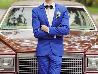 Marié en bleu