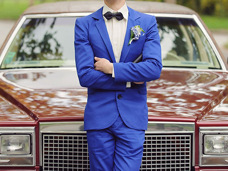 Groom in Blue