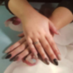 Gel Extensions using the manicure compan