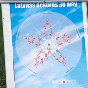 Latvijas izpletņlēkšanas federācija plāno uzstādīt Latvijas izpletņlēkšanas rekordu