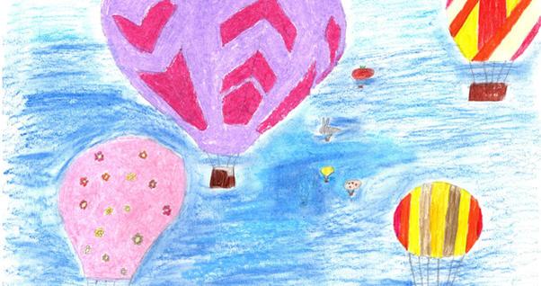 """""""Krāsainās debesis"""". Evelīna Dārta Kāle, Priekules Mūzikas un mākslas skola"""