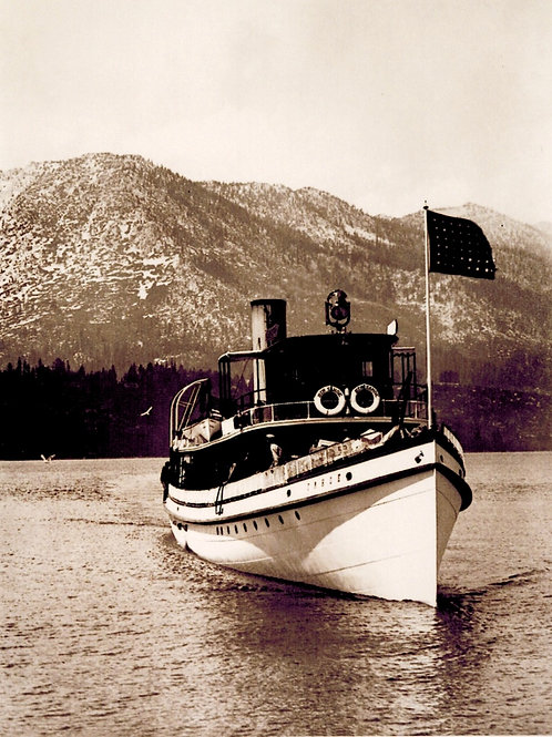 Steamer Tahoe off Tallac 1919