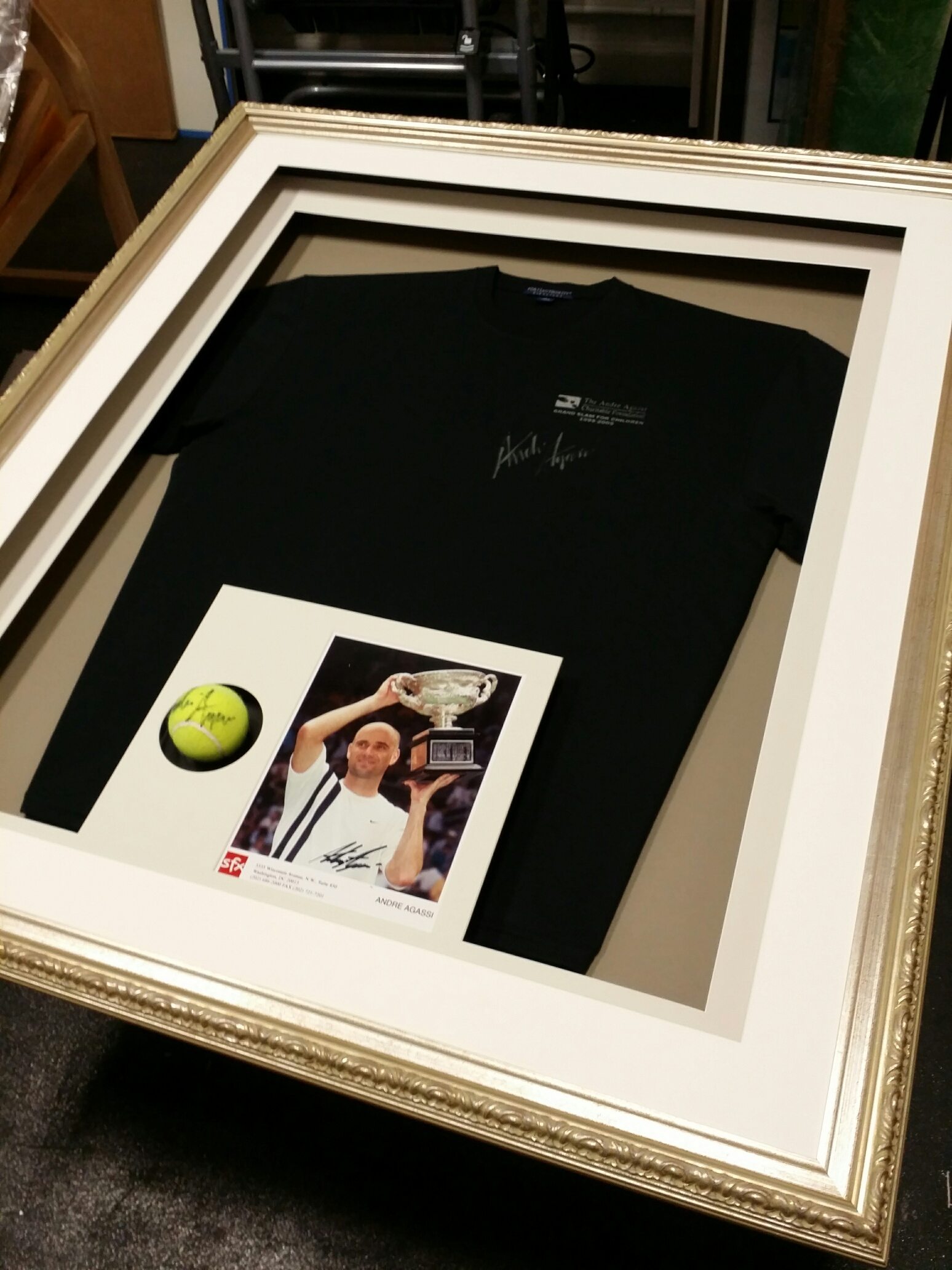 Signed Tennis Jersey and Ball