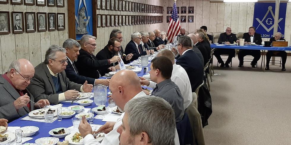 Pre-Meeting Dinner  $12.00/meal