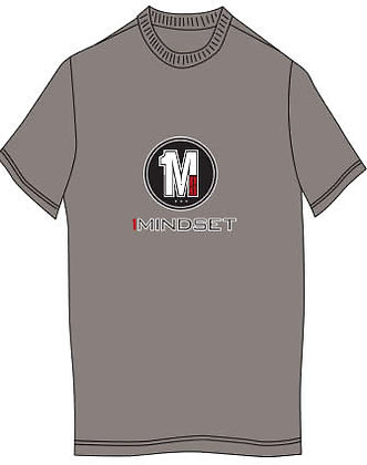 1MINDSET Logo Grey T-Shirt