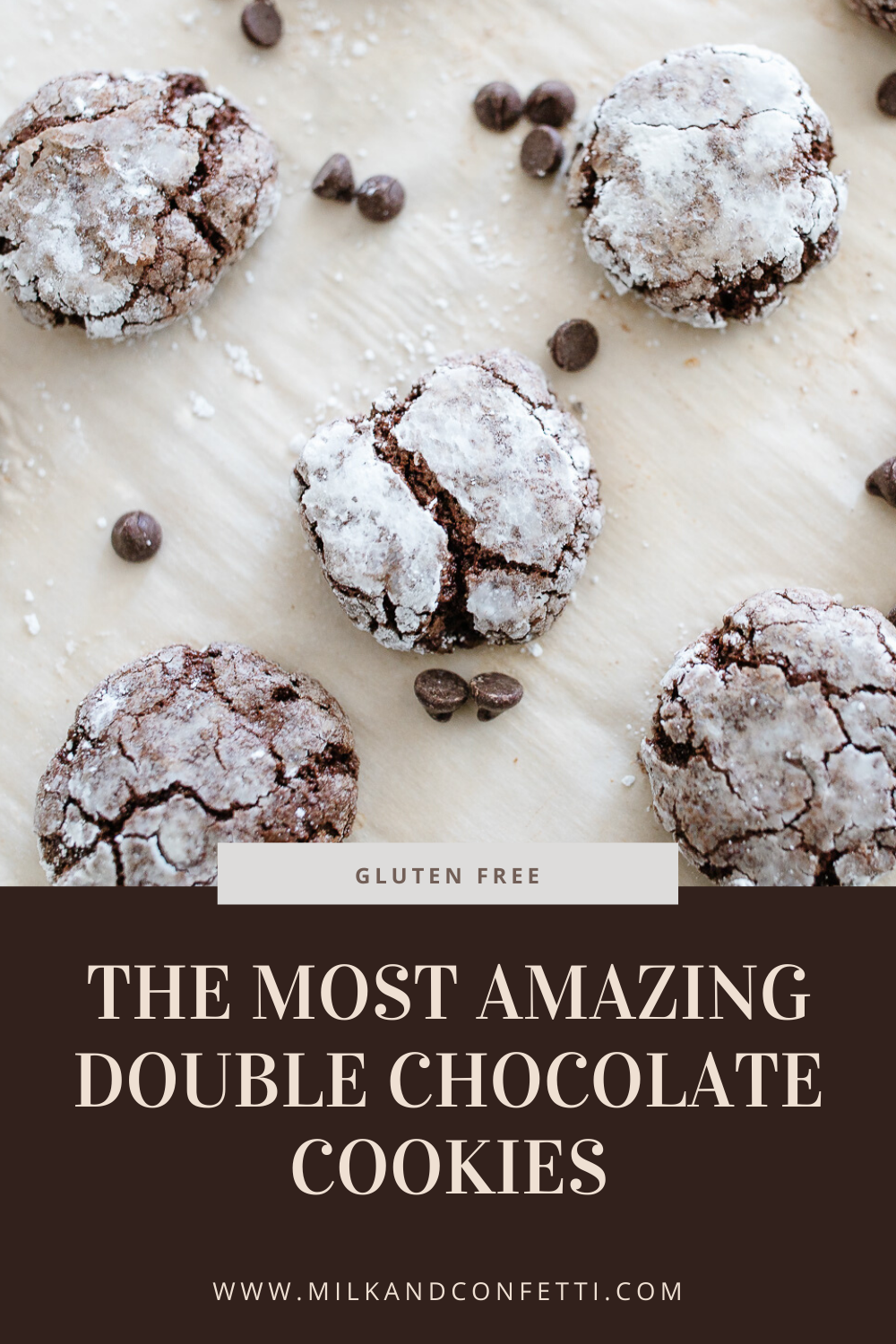 A double chocolate cookie recipe that is easy, delicious and gluten free!