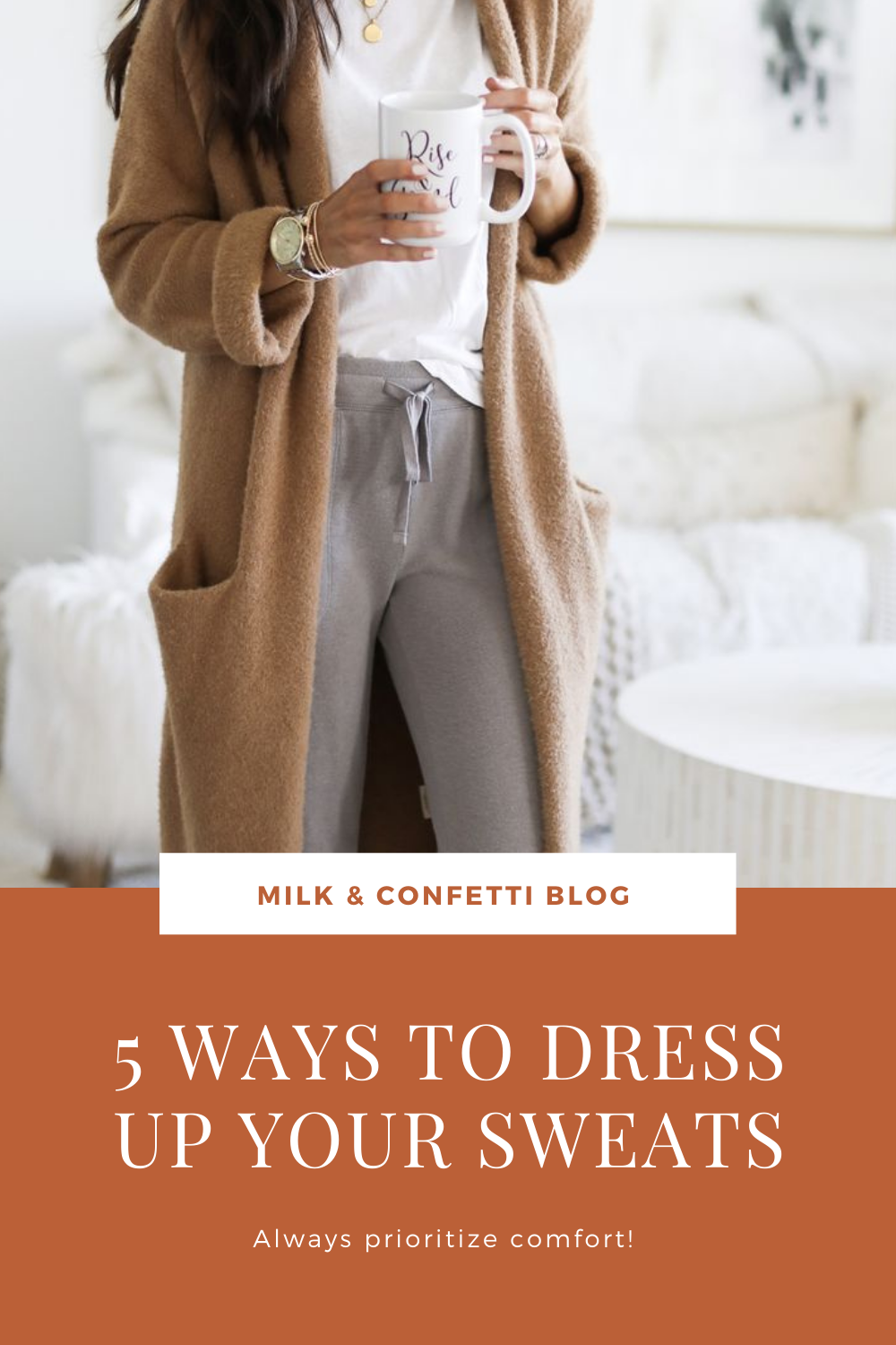 Is your wardrobe in a lockdown slump? Here are 5 simple and cute ways to dress up your sweats and loungewear.