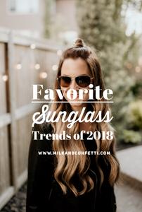 Top Sunglass Trends of 2018
