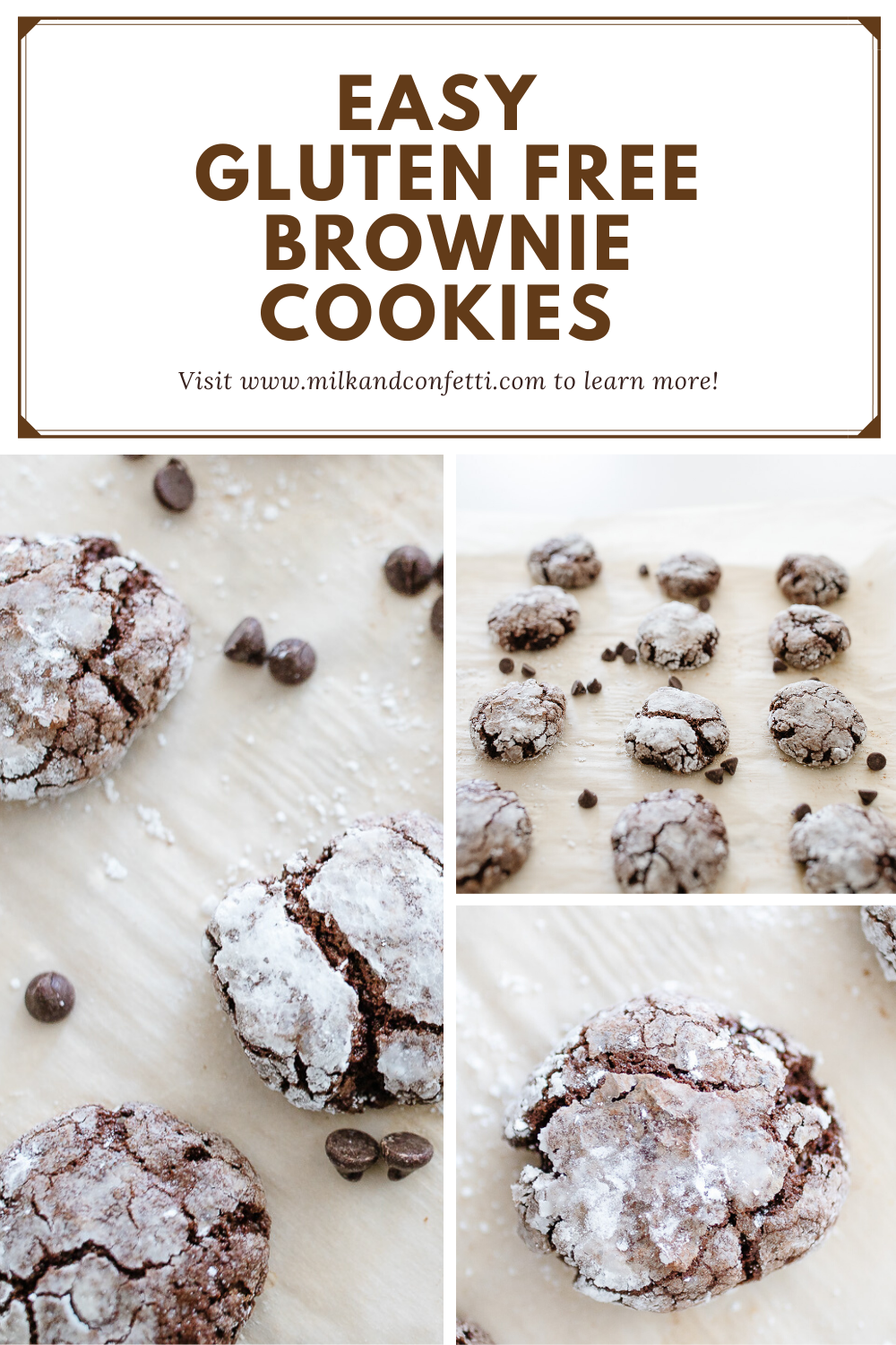 An easy gluten free brownie cookie recipe that won't disappoint!