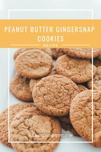 peanut butter gingersnap cookies